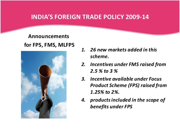 essay on foreign trade policy of india A snapshot of india's foreign trade policy, incl stats on domestic & international trade, export and import, trade expansion plans and morepresented by govt tr.