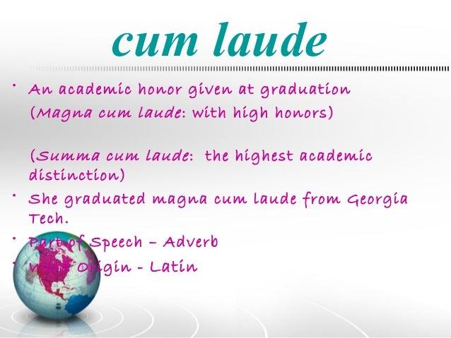 What does cum laude mena