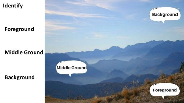 Identify Background Middle Ground Foreground ...