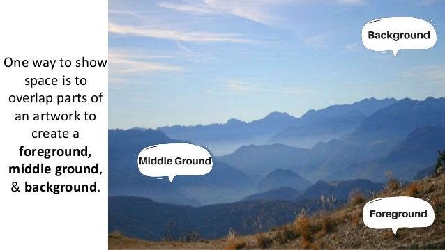 defining identifying foreground middle ground background
