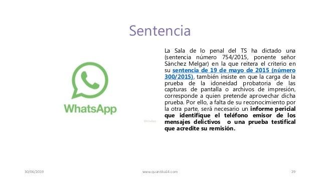 Sentencia La Sala de lo penal del TS ha dictado una (sentencia número 754/2015, ponente señor Sánchez Melgar) en la que re...