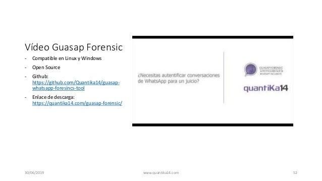 Vídeo Guasap Forensic - Compatible en Linux y Windows - Open Source - Github: https://github.com/Quantika14/guasap- whatsa...
