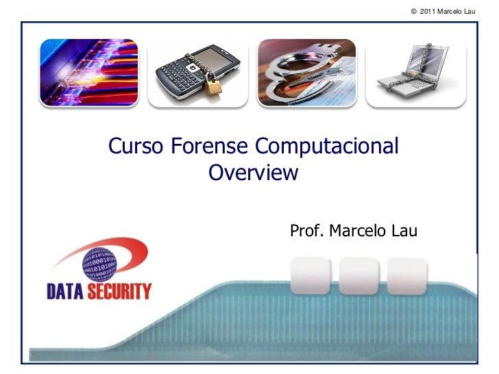 © 2011 Marcelo Lau        oCurso Forense Computacional          Overview                Prof. Marcelo Lau