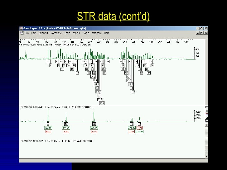 STR data (cont'd)                                                 STR TYPING SUMMARY SHEETDate:                      DNA A...