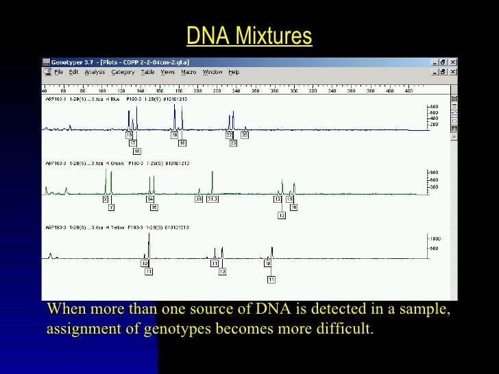 """Degraded/Trace DNA SamplesLarger alleles """"drop-out"""" when template DNA is low inquantity or quality, reducing certainty of ..."""