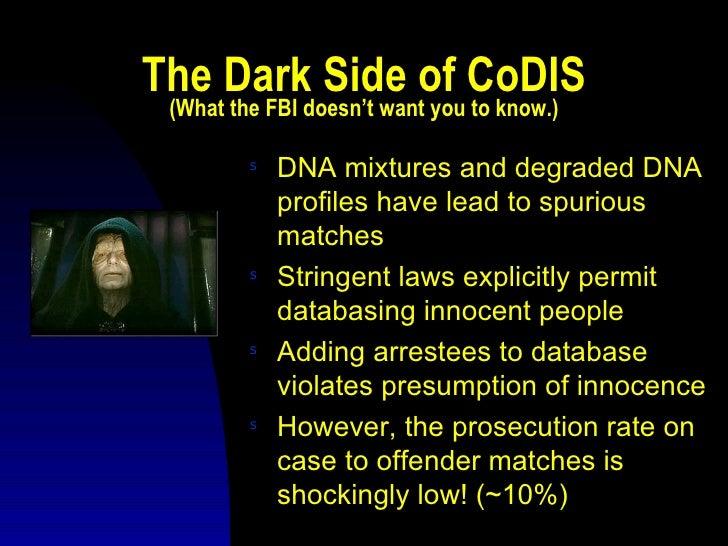 (~10%); 26. LAPD CoDIS ...