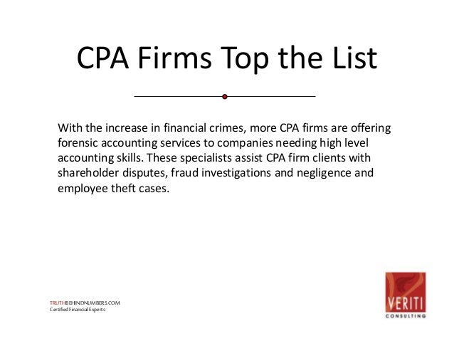 Forensic Accounting: One Of The Fastest Growing Careers