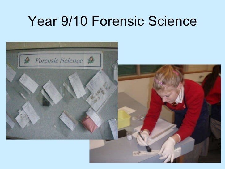 Year 9/10 Forensic Science