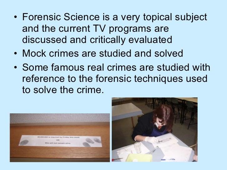 Forensic Science - BSc (Hons)