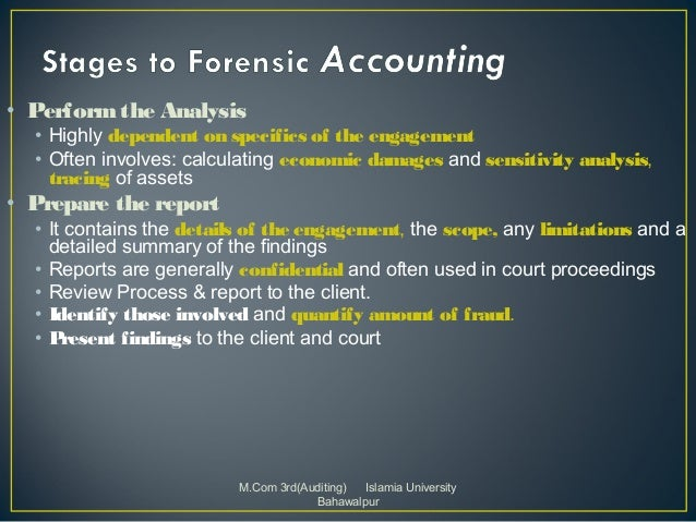 limitation in forensic accounting Sampling in forensic accounting because investigating all of a company's financial records would be too time-consuming, forensic.