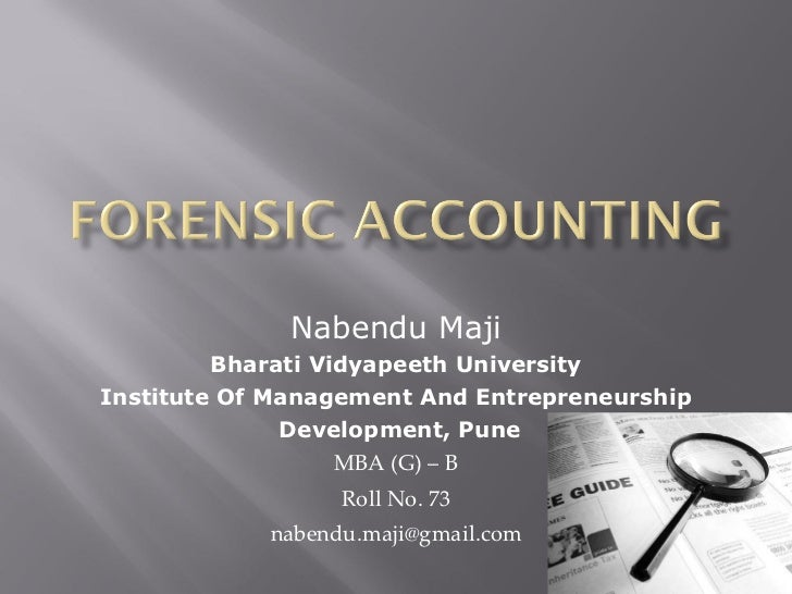 Nabendu Maji Bharati Vidyapeeth University Institute Of Management And Entrepreneurship Development, Pune MBA (G) – B Roll...