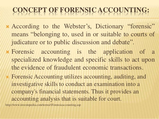 Accounting: the Forensic Accounting Who Fought Whiet Collar Crime Essay