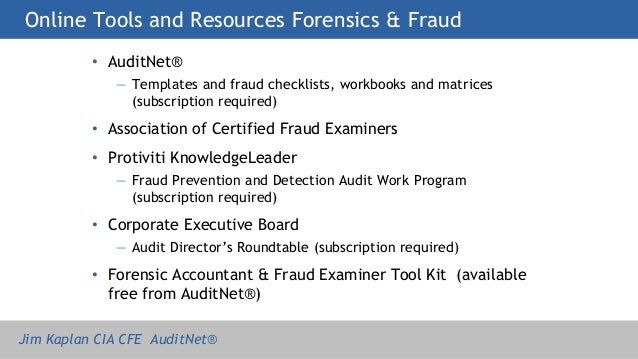 forensic accounting session