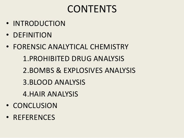 conclusion chemistry definition