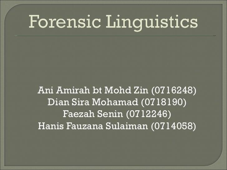 <ul><li>Ani Amirah bt Mohd Zin (0716248) </li></ul><ul><li>Dian Sira Mohamad (0718190) </li></ul><ul><li>Faezah Senin (071...