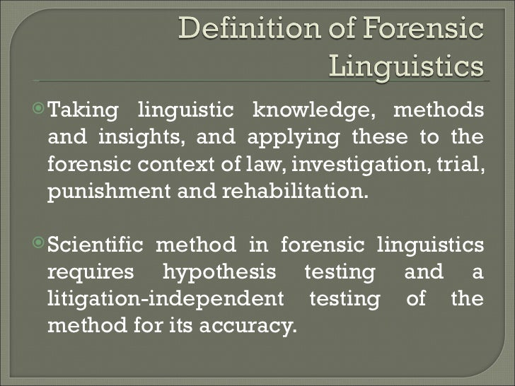 forensic phonetics What do forensic phoneticians do forensic phonetics is a relatively recent development involving several disciplines and a mixture of traditional and high.