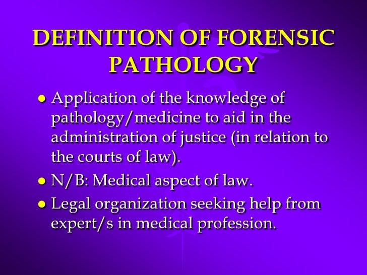 Forensic Medicine Forensic Pathology
