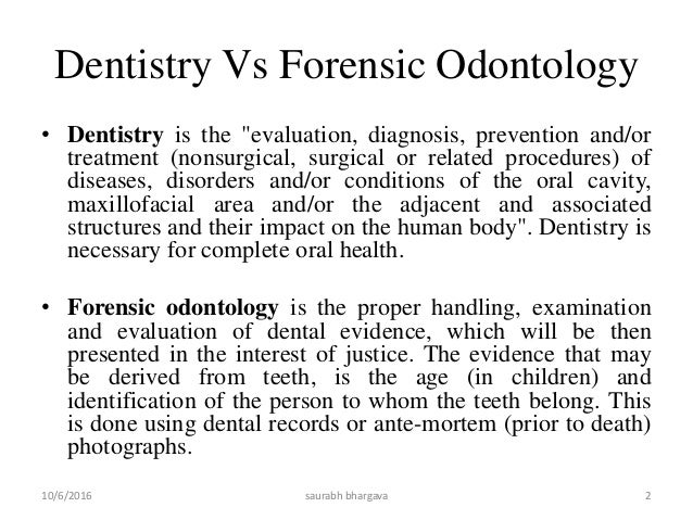 Forensic Odontology Slide 2