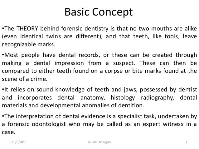Forensic Odontology Slide 3