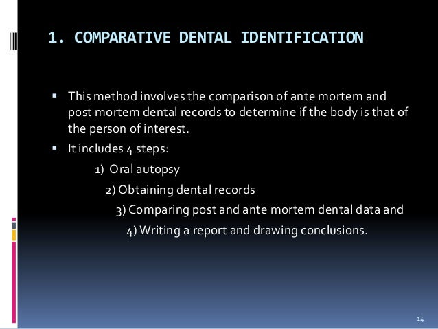 """forensic dentistry essay Determination stature determination history of forensic anthropology contents 1   dental identification 264 chemical and stable  america, thdwight in  1878 wrote an essay """"the identification of the human skeleton: a medico-legal ."""