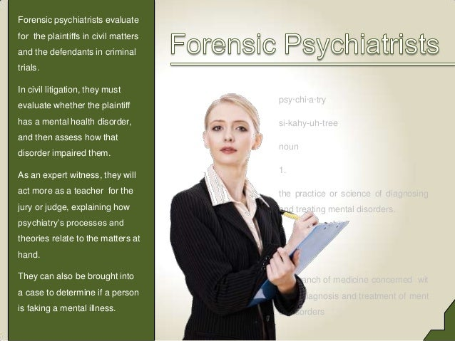 The Difference Between Forensic Psychiatrists and Forensic Psychologi…