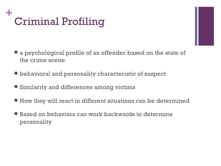 forensic psychology  7 criminal profiling