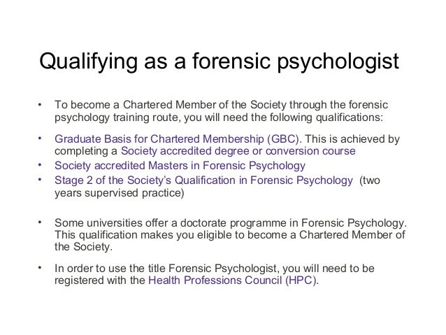 forensic psychology as a career, Human Body