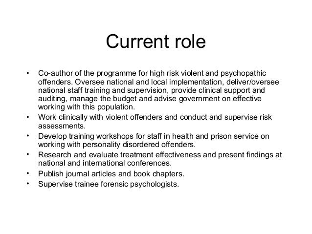 Forensic Psychologist Job Description Uk Image Gallery - Hcpr