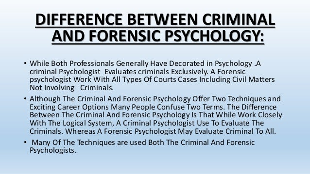 Apa Division Of Forensic Psychology