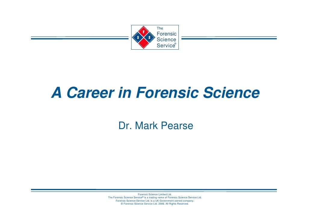 The                                                 Forensic                                                 Science      ...