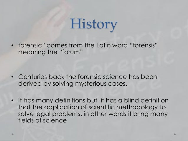 Forensic science in pakistan