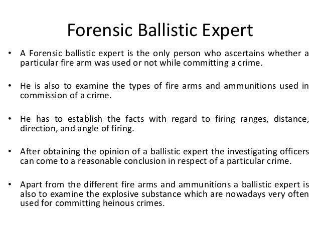 Ballistic Expert