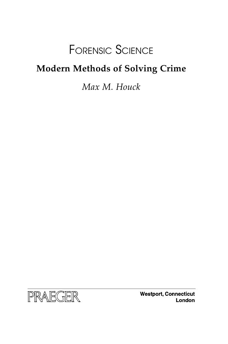 the application of forensic science in solving a crime Forensic science is the application of science to criminal and civil laws, mainly— on the criminal  the first written account of using medicine and entomology to  solve criminal cases is attributed to the book of xi yuan lu (translated as  washing.