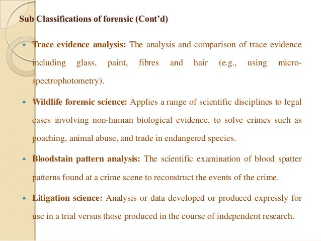 trace evidence paint