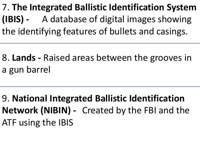 Fact Sheet - National Integrated Ballistic Information Network