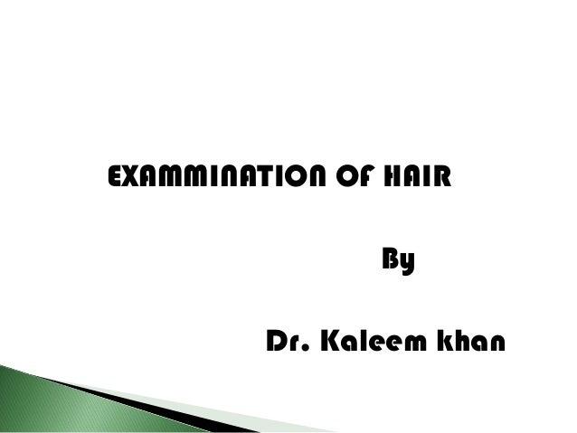 Forensics Of Hair Analysis