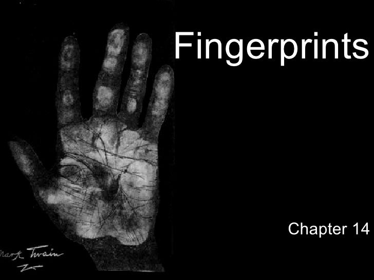 Forensics Topic: Fingerprints
