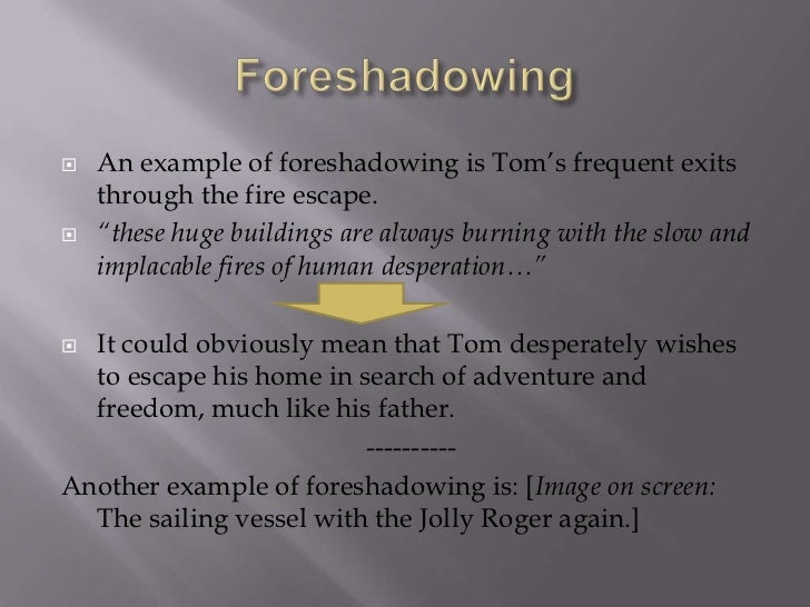 foreshadowing examples in literature