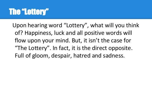 examples of foreshadowing in the lottery