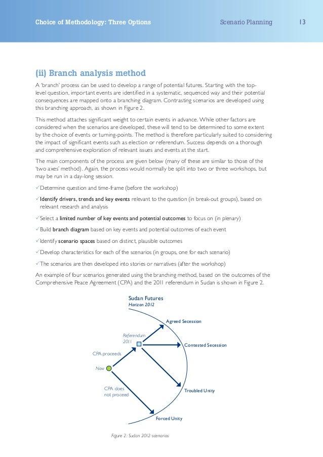 Choice of Methodology: Three Options                                                    Scenario Planning   13(ii) Branch ...