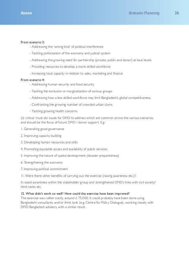 Annex                                                                           Scenario Planning    26From scenario 3:   ...