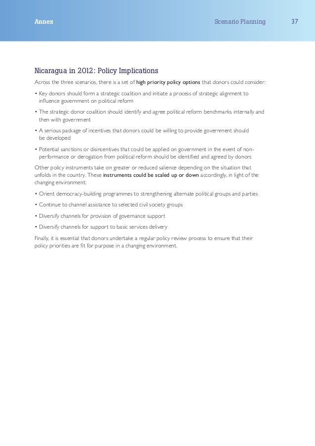 Annex                                                                            Scenario Planning       37Nicaragua in 20...
