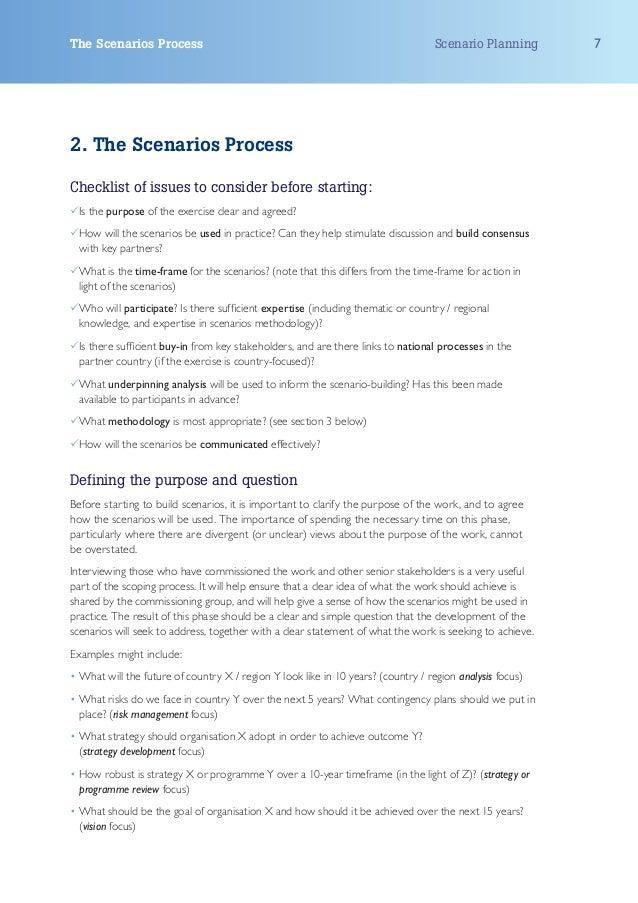 The Scenarios Process                                                             Scenario Planning       72. The Scenario...