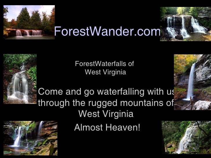 ForestWander.com Come and go waterfalling with us through the rugged mountains of West Virginia  Almost Heaven! ForestWat...