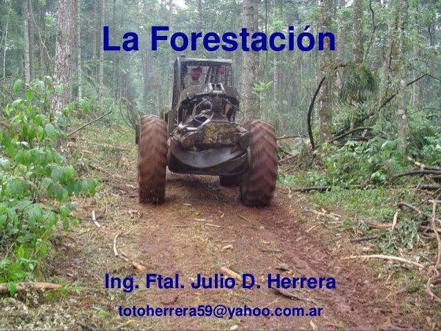 La Forestación Ing. Ftal. Julio D. Herrera totoherrera59@yahoo.com.ar