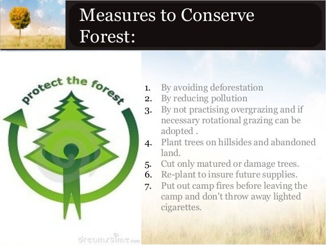 Ways Of Conserving Natural Resources