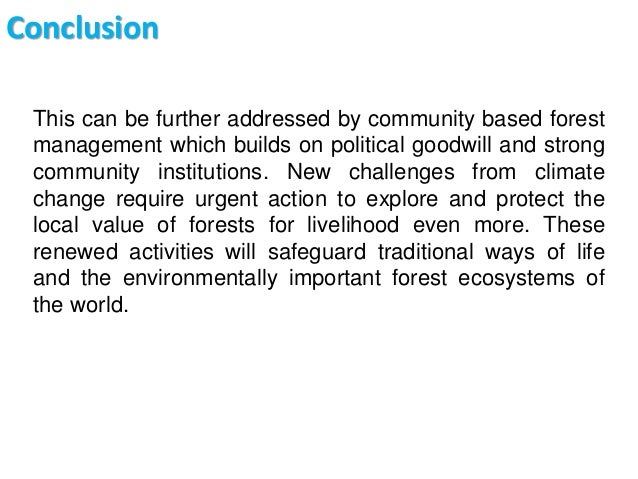 ecosystem conclusion Conclusion for resolving the increasing stress on the environment and resources, and also responding to the ever-increasing demands of the citizens for environmental quality protection and improvement in ecological environment, the.