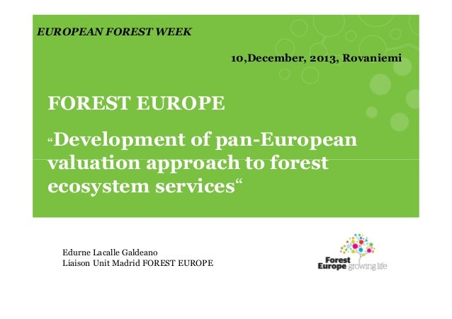 FOREST ECOSYSTEM VALUATION STUDY - UN Environment