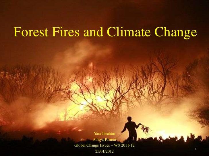 Forest Fires and Climate Change                    Yara Ibrahim                    Aditya Parmar          Global Change Is...