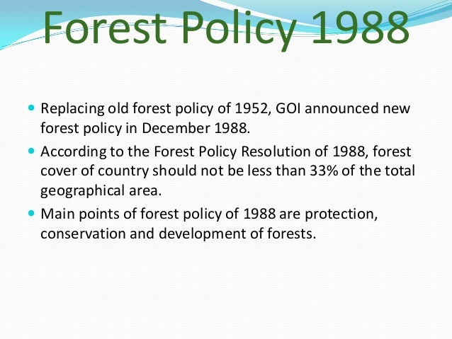 impact of colonial forest policy in india